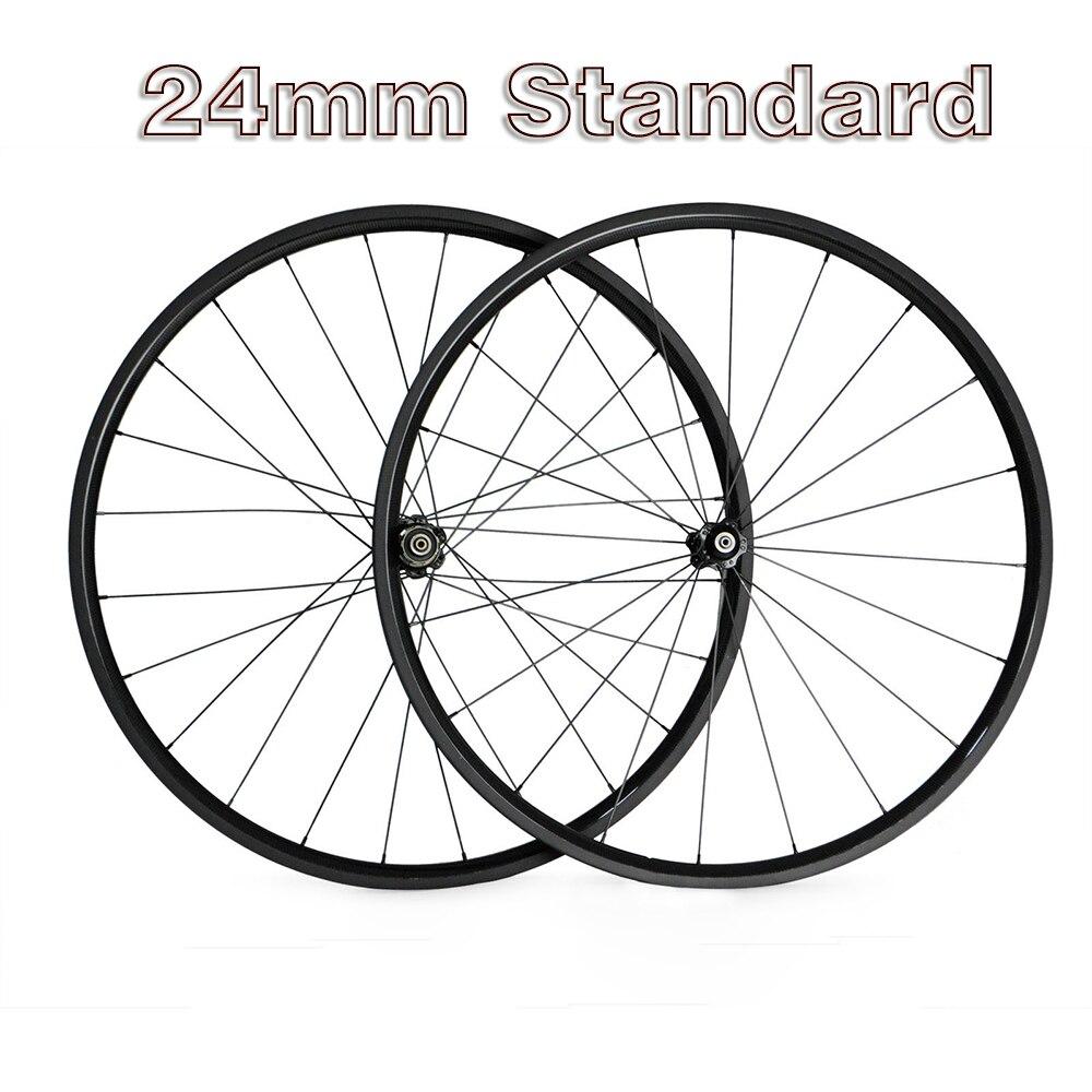 OZUZ 24 mm de profondeur vélo de route en Fiber de carbone roues pneu 23mm de large vélo roue 494 cnrai Novotec 271 372 paire de roues 700c