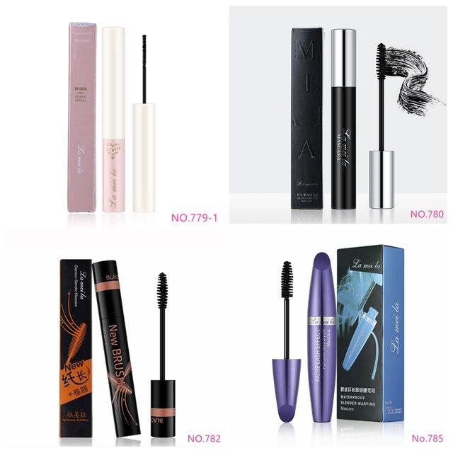 New 4d Fiber Lash Mascara Waterproof Black Eye Silk Eyelashes Mascara Lengthening Volume 3d Sexy Pudaier Eyebrow Makeup Mascara 3
