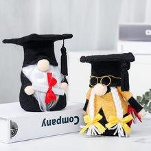 Hong Kong Love Graduation Season Black Doctorial Hat Faceless Doll Cute Doll Puppet Festival Gift Decoration Wholesale