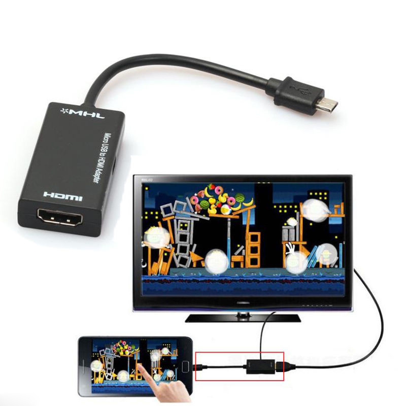 Mini Micro USB 2.0 MHL To HDMI 1080P TV Adapter Cable Converters  For Samsung Galaxy
