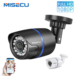 MISECU H.265 IP كاميرا 1080P في الهواء الطلق مقاوم للماء ONVIF P2P كشف الحركة RTSP تنبيه البريد الإلكتروني XMEye 48 فولت POE مراقبة الأمن