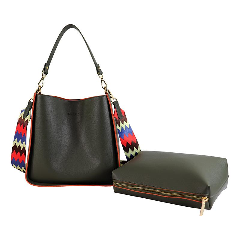 Fancy Webbing Lettered Bag Customizable oem pu Handbag Zipper Double-Sided Printed Graphic Customization