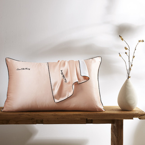 Image 2 - 100% natur 19 momme maulbeerseide kissenbezug Umschlag kissenbezüge kissen fall für gesunde Königin multicolor