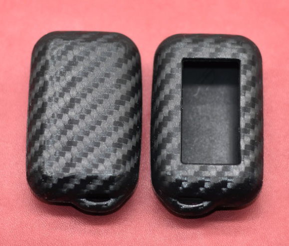 Carbon Silicone Car Key Case For StarLine E95 E65 E90 E60 E91 E61 Two Way Car Alarm LCD Remote Control Fob Protector Cover Bag