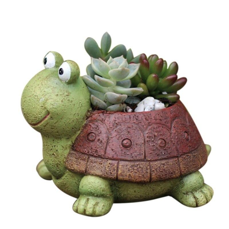 Мини черепаховая Цветочная горелка, садовое растение, садовые растения, домашний офис, украшение, домашний офис, Декор, новые садовые источники|Цветочные горшки и кадки|   | АлиЭкспресс