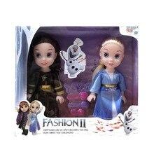 2020Disney zabawki 18cm mrożona księżniczka Anna Elsa Kristoff Sven Olaf PVC Model figurki lalki kolekcja dla dzieci prezenty świąteczne