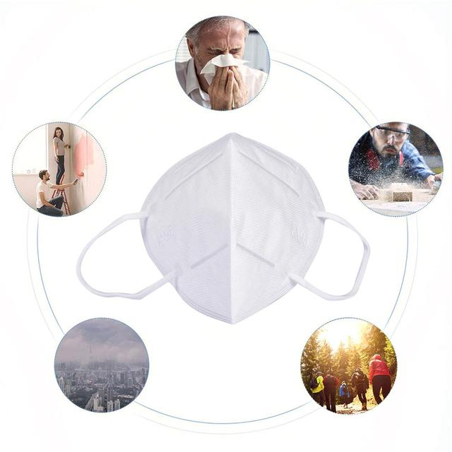 Disposable Face Mask Dustproof Mask Anti-pollution Anti-fog PM2.5 Indoor Outdoor Facial Mask For Sports Cycling 2
