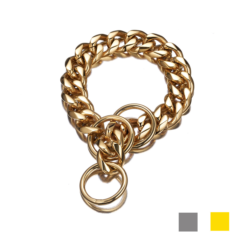 15/19mm Pet Supplies Dog Pendant Sub-P Pendant Stainless Steel Neck Ring Hand Holding Rope Proof Punch Supply Of Goods