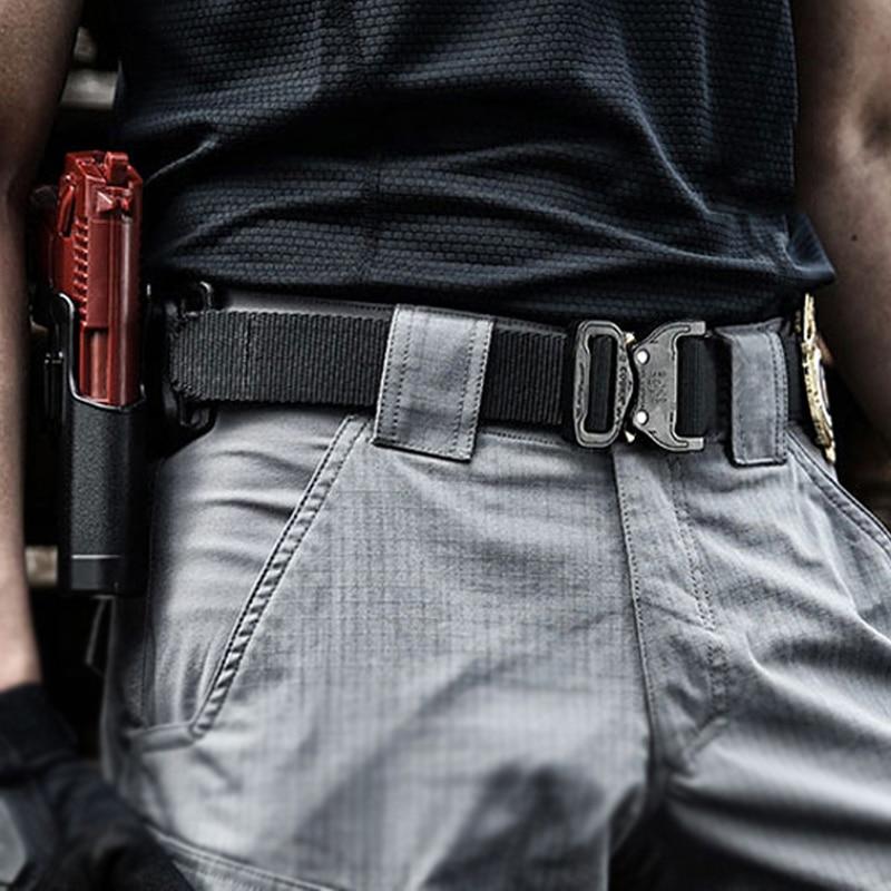 Medyla Nylon Strap Army Tactical Belt Men Military SWAT Combat Belts Outdoor Sports Emergency Survival Belt For Man Casual Belt