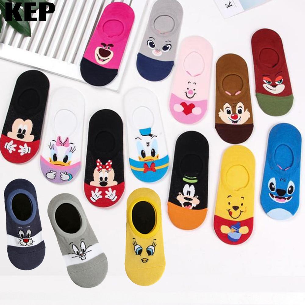Women Summer Socks Cartoon Cat Fox Rabbit Socks Cute Animal Funny Ankle Socks Ladies Cotton Invisible Socks Cheap Dropshipping