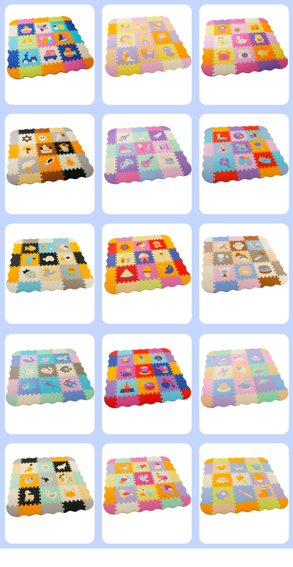 Hc5a301b9ac4a4752abd7e03fdaa800b8D 25Pcs Kids Toys EVA Children's mat Foam Carpets Soft Floor Mat Puzzle Baby Play Mat Floor Developing Crawling Rugs With Fence