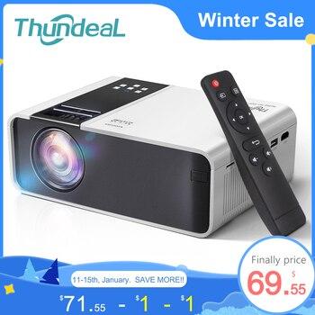ThundeaL HD Mini Proyector TD90 nativa de 1280 x 720P LED Android WiFi Proyector de vídeo soporta 1080p HD doméstico cine en casa 3D HDMI juego de la película pantalla grande de Proyector,compatible con AC3