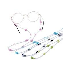 1 шт. в форме сердца бисерные противоскользящие очки для чтения солнечные очки шнурок-цепочка Веревка держатель очки ремешок фиксатор