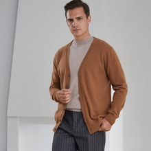 Sweaters Jacket Cashmere Cardigan Knitted Wool Men's Winter V-Neck Autumn Buy Solid Must