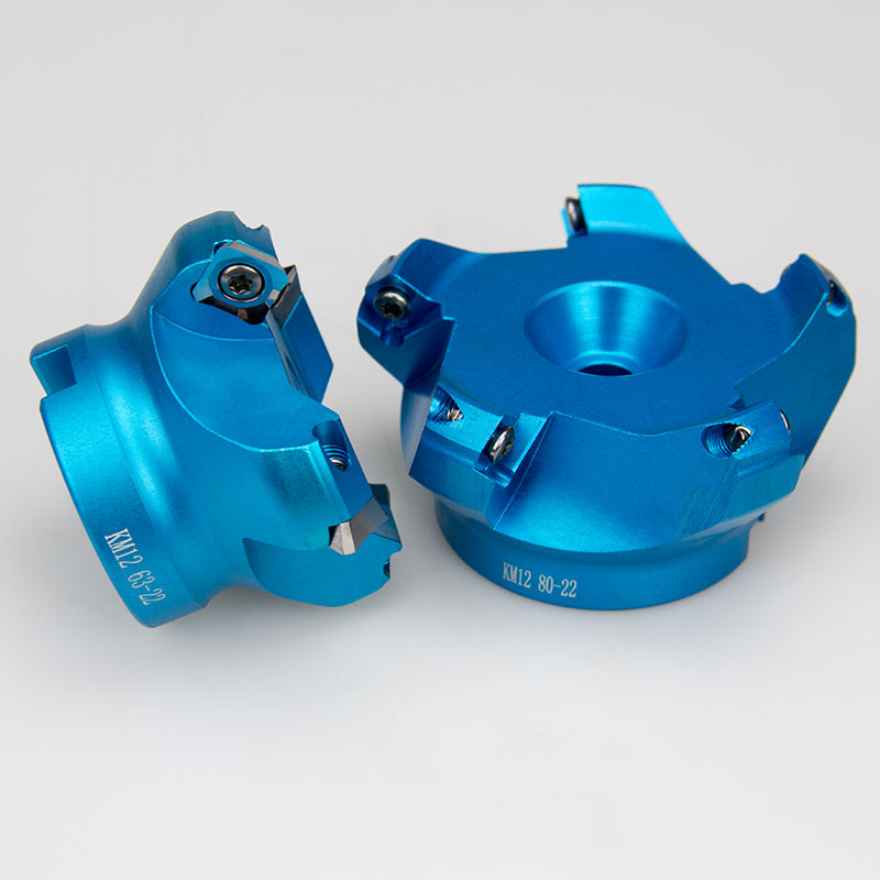 45 Angle KM12 Face Aluminium Plane Head End Mill Milling Cutter SEKT1204 Insert Wholesale CNC Machine High Hardness Tools 4FluteMilling Cutter   -