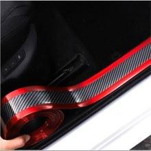 Koolstovvezel – autocollant de protection pour pare-choc, 1M, 3Cm, plaque de seuil Anti-éraflure, Accessoires universels pour voiture