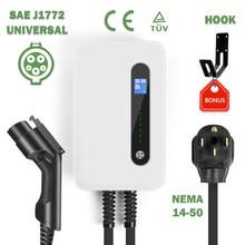 Station de recharge de voiture électrique de Type 1, chargeur de voiture, 7kw sae j1772 EV, 32a 1 Phase, EVSE niveau 2, 20 pieds