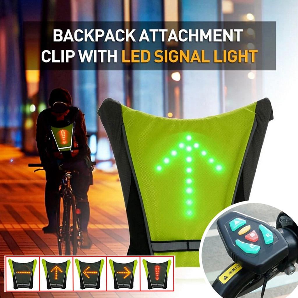 2020 novo led sem fio ciclismo colete mtb bicicleta saco de segurança led turn signal luz colete reflexivo aviso coletes com controle remoto