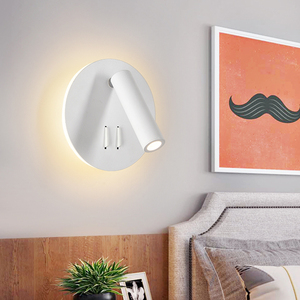 Image 5 - LED Wall Lamps Reading 3W 6W Strip light Back light bedroom Study living room  Sconce Adjustable With Switch Bedside Wall light