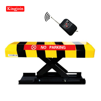 Vehicle-sensing automatic parking barrier with 2 remote controls - Battery - Parking (without battery) Parking column bollard