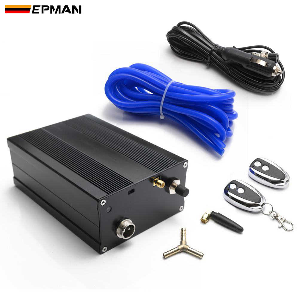 EPMAN Electric Controller Box Wireless  2 Remote Vacuum Hose For Exhaust Catback Downpipe Muffler Valve EPCUT002B
