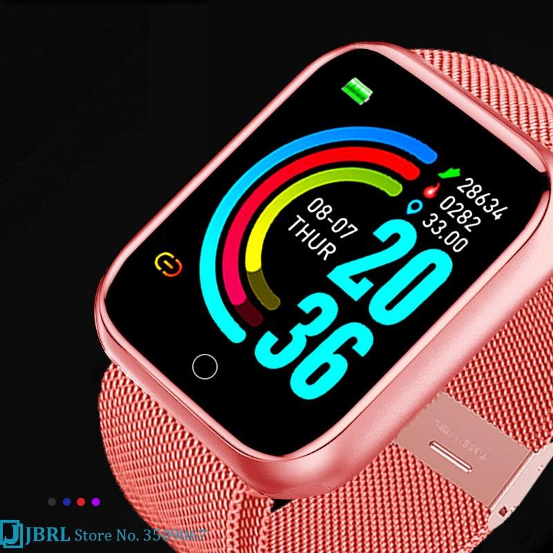 Hc5a43fd793dd49109685d4d144b34171P 2021 Ladies Sport Bracelet Smart Watch Women Smartwatch Men Smartband Android IOS Waterproof Fitness Tracker Smart Clock Mens