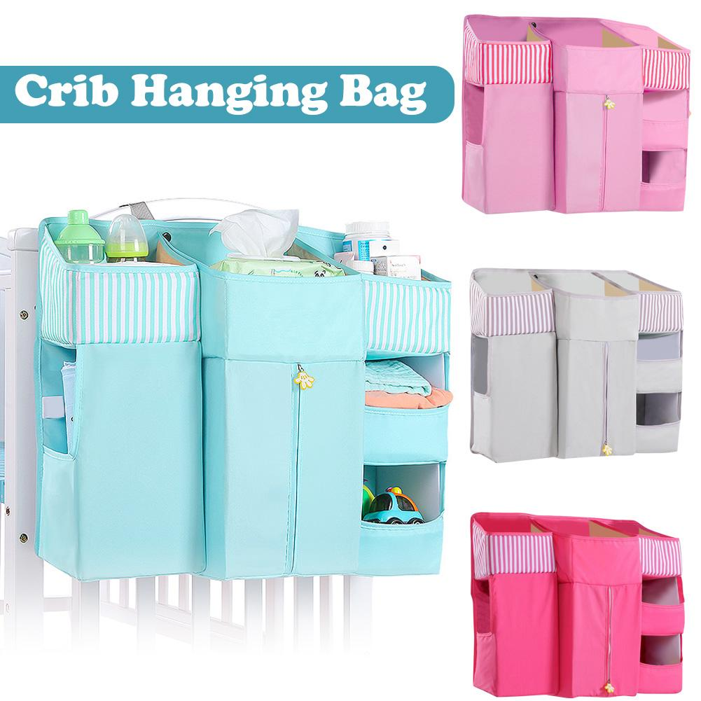 Canvas Bedside Hanging Pocket Storage Bag Bedroom Magazine Storage Pouch Diaper Caddy Toy Holder Baby Tissue Box Home Organizer