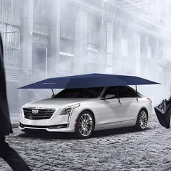 Sombrilla de coche automática impermeable plegable de 4,8 M parasol de coche UV cubierta de techo carpa paraguas protección de embalaje de coche
