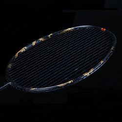 Ultralight 8U Dragon Phoenix Full Carbon Fiber Badminton Rackets With String Bags Professonal Rackets Padel For Adults Kids