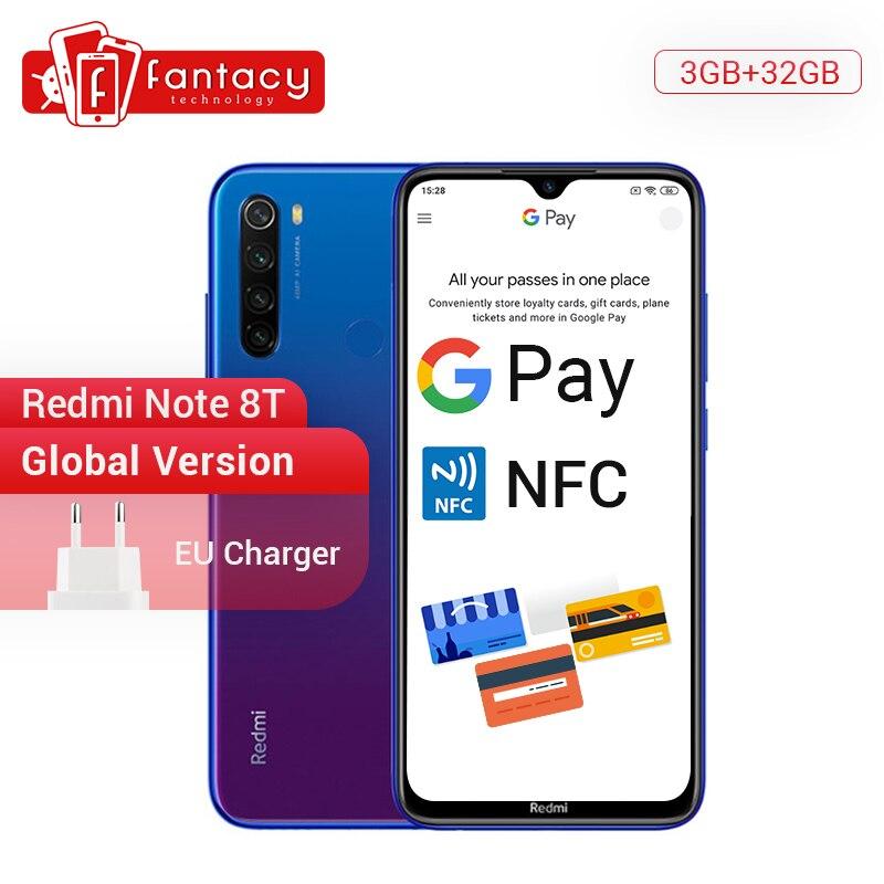 New Arrival Global Version Redmi Note 8T 8 T 3GB RAM 32GB ROM Snapdragon 665 Octa Core 48MP Quad Camera 6.3' FHD+ Screen 18W NFC