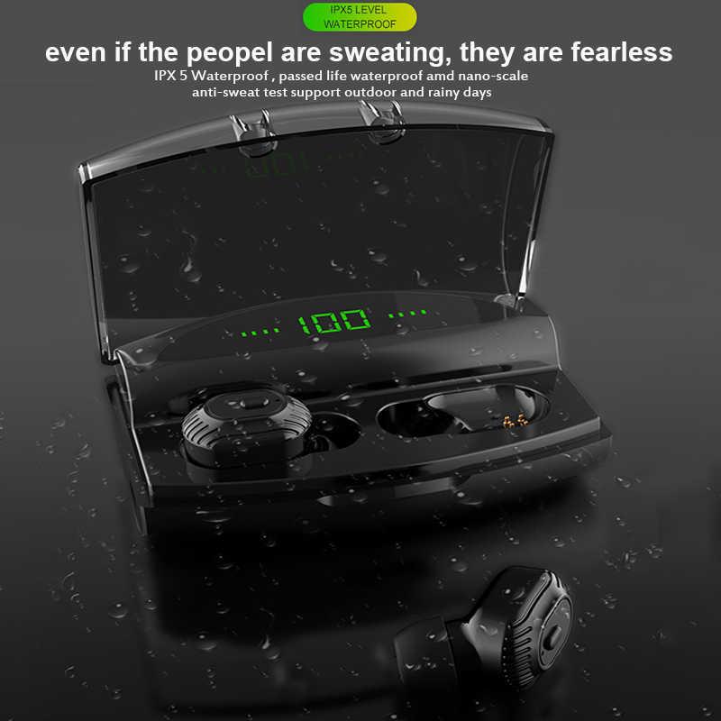 XG20 2200mAh TWS bezprzewodowe słuchawki Bluetooth słuchawki wyświetlacz mocy Mini Sport 8D Stereo bezprzewodowy zestaw słuchawkowy ładowania Bin
