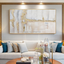 hand-painted oil painting for living room wall art paintings hotel club gold abstract