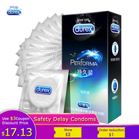 Condoms Durex Prolonged Safe Delay Long Sleeve Natural Latex Condom Cock Ring Penis Sleeve lubricant for Men's Delay Sex Product