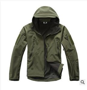 Image 3 - Lurker 상어 피부 Softshell V5 군사 전술 재킷 남자 방수 코트 위장 후드 군대 카모 의류
