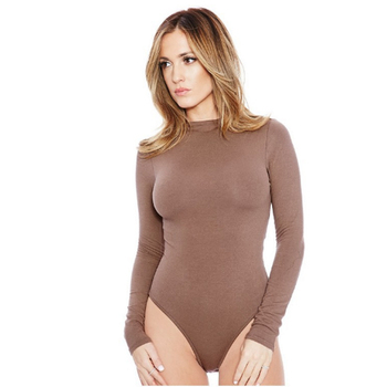 13 Colors Long Sleeve O Neck Casual Bodysuit Women Body Tops White Black Nude Red Party Bandage Bodycon Romper Body suit Jumper 10