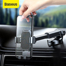 Baseus-Soporte de teléfono para coche, soporte de montaje de ventosa fuerte, de gravedad de 360 grados, para teléfono móvil