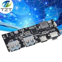 Qc4.0 qc3.0 led duplo usb 5v 4.5a 22.5w micro/tipo-c usb banco de potência móvel 18650 módulo de carregamento temperatura/proteção de circuito