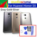 Huawei 社の名誉 5X バックバッテリードアリアため名誉グローリー再生 5X 、 KIW-L21 シャーシシェル交換