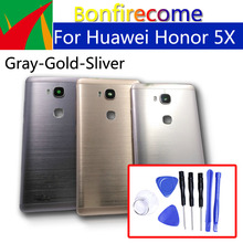 Huawei 社の名誉 5X バックバッテリードアリアため名誉グローリー再生 5X 、 KIW L21 シャーシシェル交換