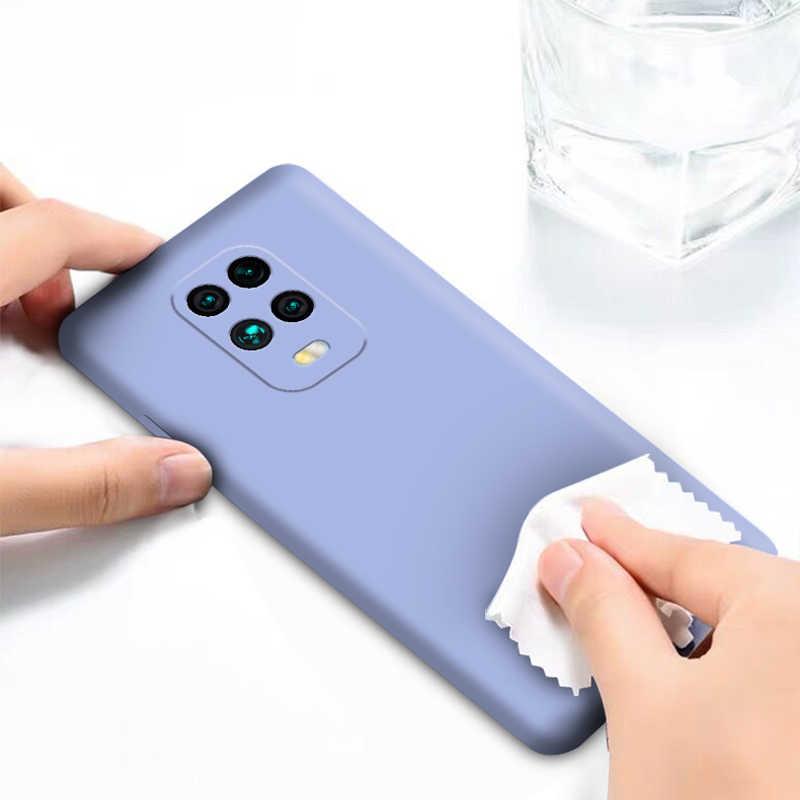 Para Xiaomi Redmi Note 8 9 Pro Case Capa Poco X3 Redmi Note 9S 10 Lite Silicone Líquido Macio TPU Capa Para Telefone Redmi Note 9