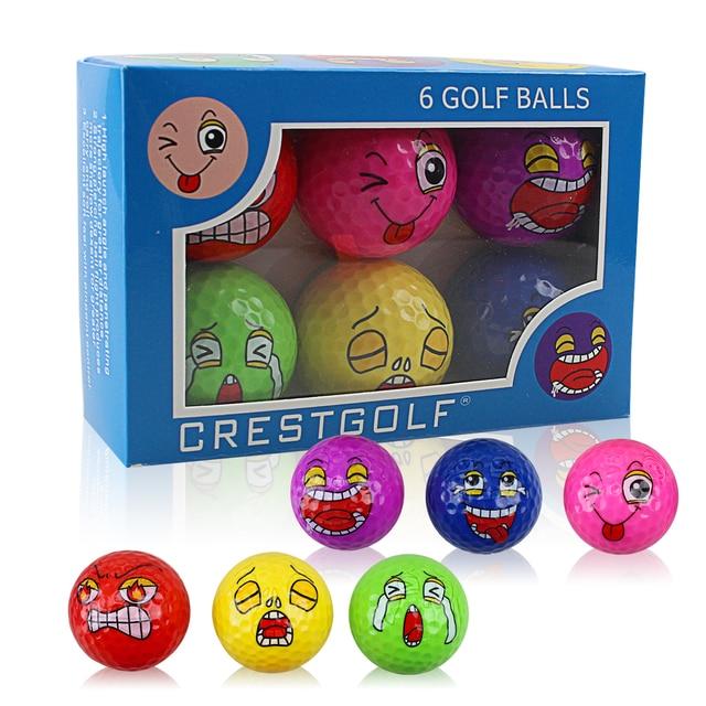 CRESTGOLF Golf Training Ball-Children's Birthday Gift-Anger Cold Cry Laugh Spit Happy the Newest Golf Balls Golf Accessories 1