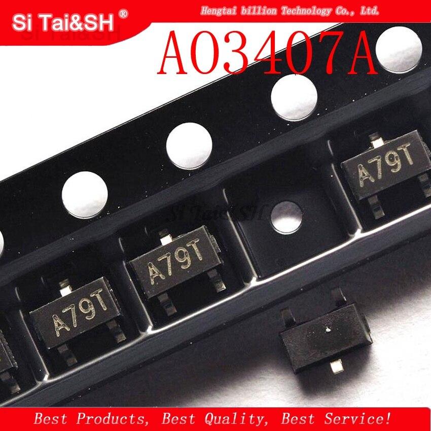 50pcs/lot AO3407A SOT-23 Marking: A79T AO3407 SOT23 P-Channel MOSFET New And Original