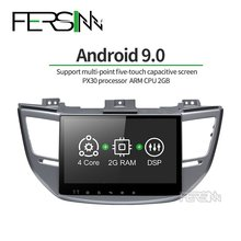 Fersinny CXTS1060 9.0 PX30 Mobil Dvd GPS Player untuk Tucson Ix35 Mobil Dvd GPS Navigasi Raido Video Audio Player stereo(China)