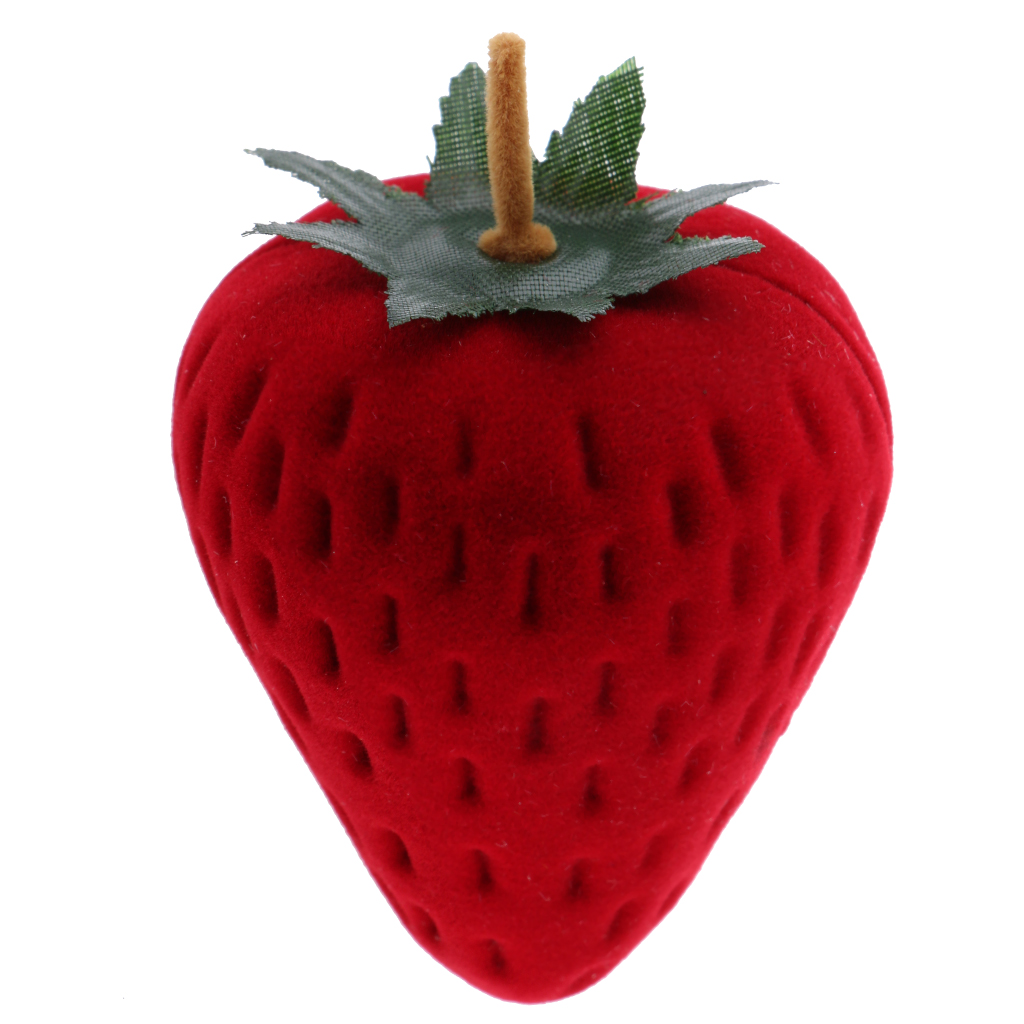 Fashion Strawberry Fruit Earring Ring Trinket Jewelry Gift Box Display