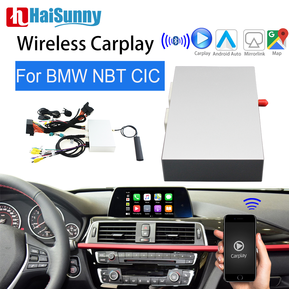 For <font><b>BMW</b></font> <font><b>F30</b></font> Apple Carplay CIC NBT MMI System Support <font><b>Android</b></font> Auto Interface MuItimedia Back up camera Wireless Car play image