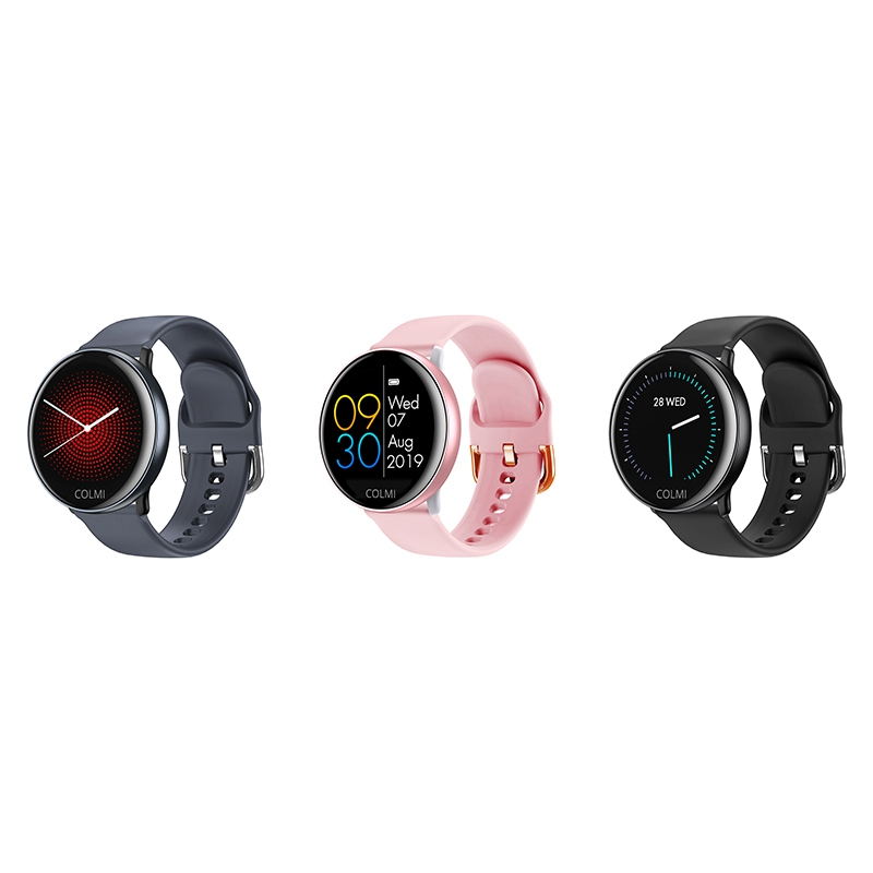 <font><b>COLMI</b></font> SKY 2 <font><b>Smart</b></font> Uhr <font><b>IP68</b></font> Wasserdicht Heart Rate Monitor Bluetooth Sport Fitness Tracker Männer Smartwatch für IOS Android Schwarz image