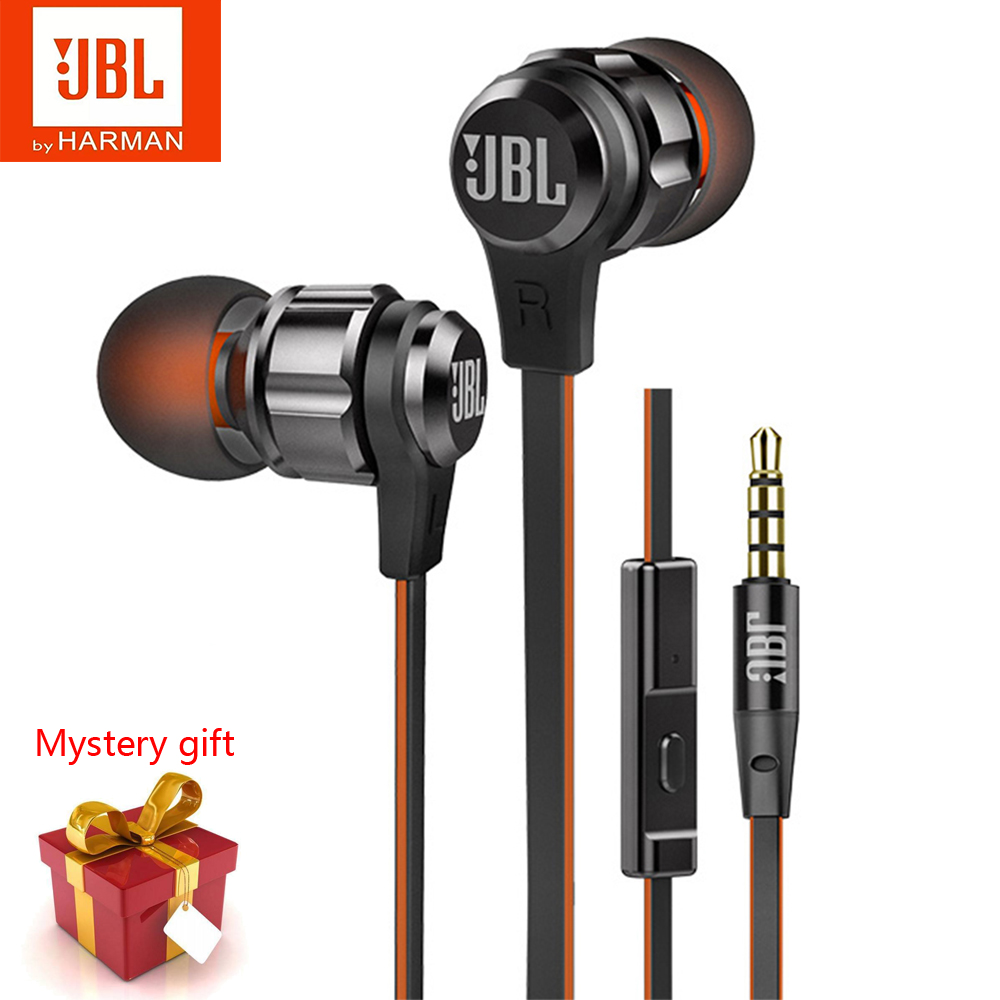 New JBL Original T180A In-Ear Wired Headphones 3 5mm Stereo Pure Bass Sound Earphones Gaming Headset Sports Headphones