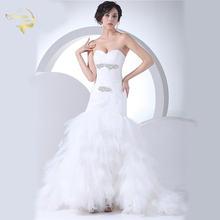 Женское свадебное платье Русалка без бретелек элегантное невесты