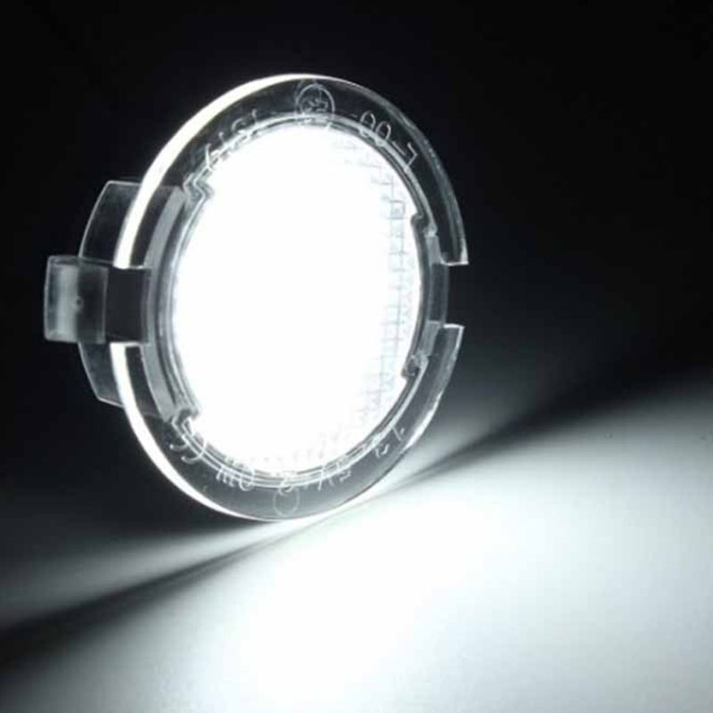 2Pcs LED Under Side Mirror Puddle Light for Ford Edge Fusion Flex Explorer Mondeo Taurus F-150 Expedition