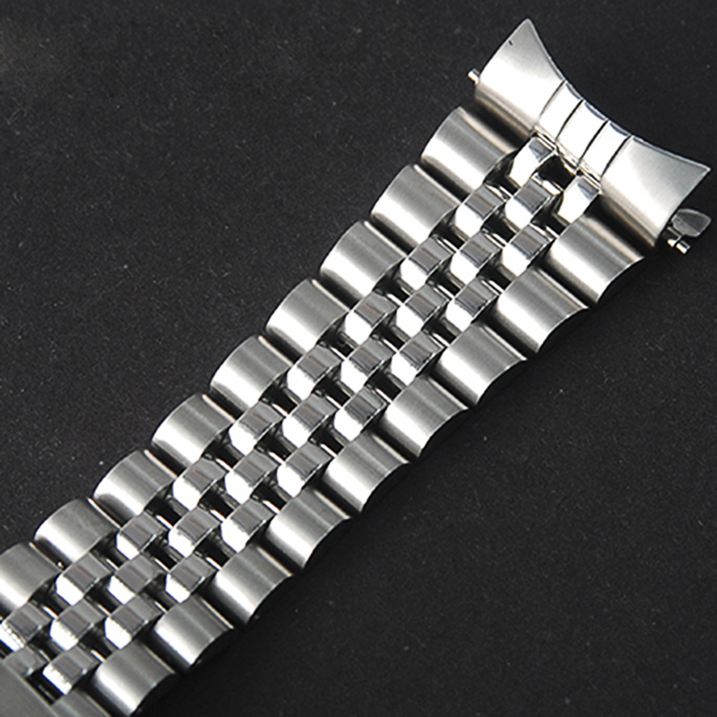 22mm Oyster Solid Stainless Steel Strap For Scuba SKX007 SKX009 Double Safe Lock Buckle